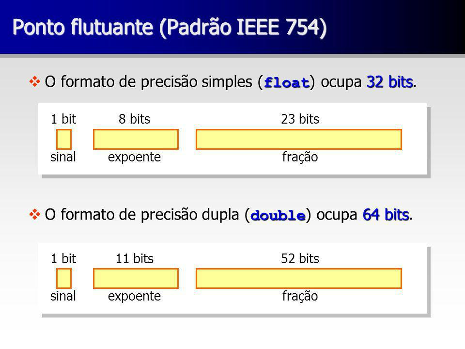 Ponto flutuante (Padrão IEEE 754)