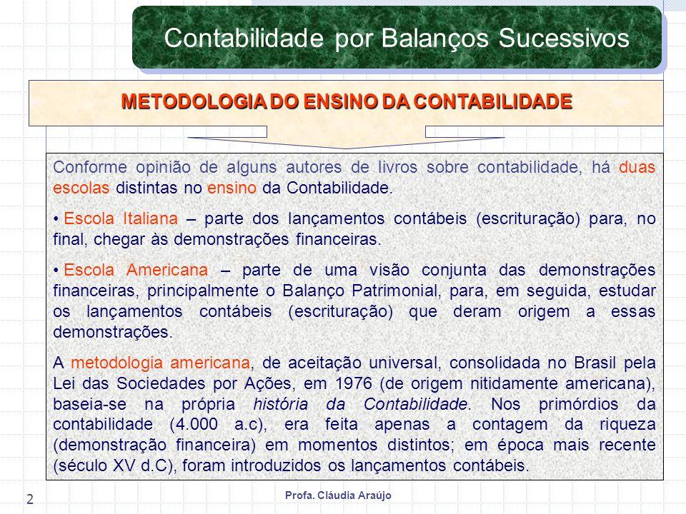 METODOLOGIA DO ENSINO DA CONTABILIDADE
