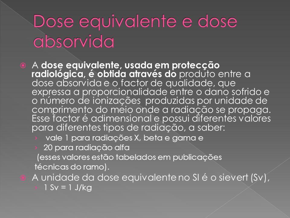 Dose equivalente e dose absorvida