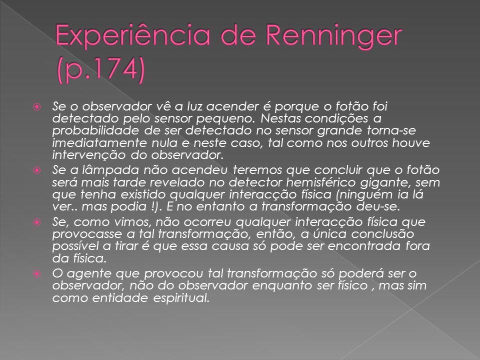 Experiência de Renninger (p.174)