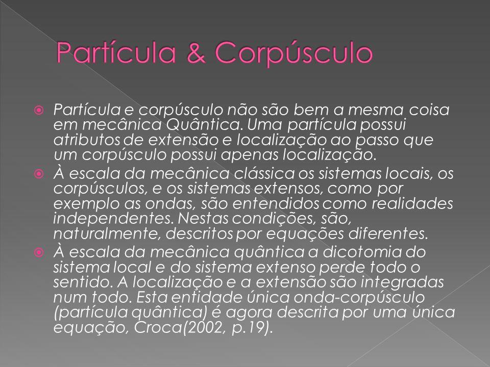 Partícula & Corpúsculo