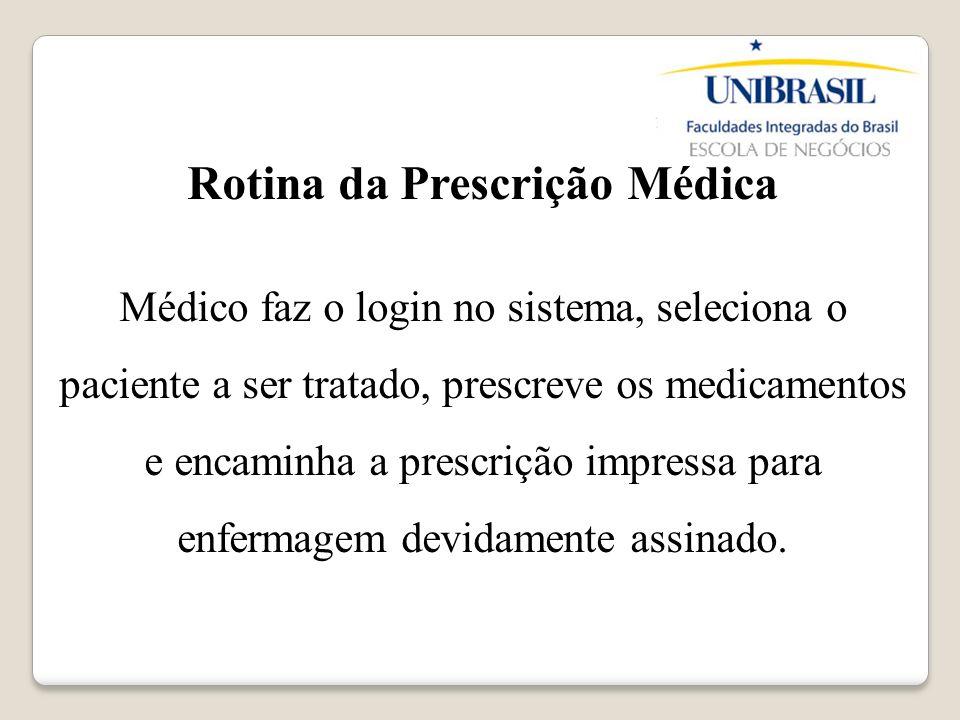 Rotina da Prescrição Médica