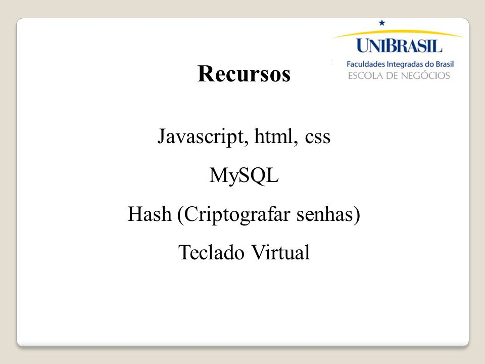 Hash (Criptografar senhas)