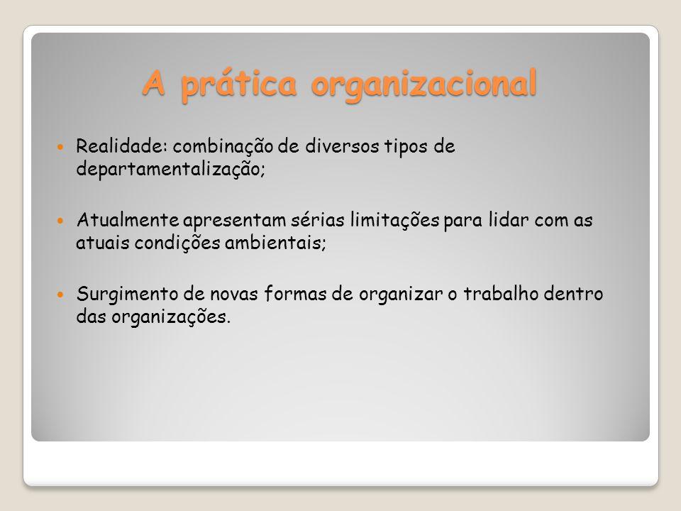 A prática organizacional