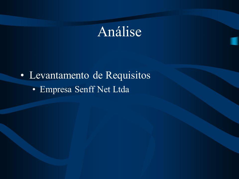 Análise Levantamento de Requisitos Empresa Senff Net Ltda