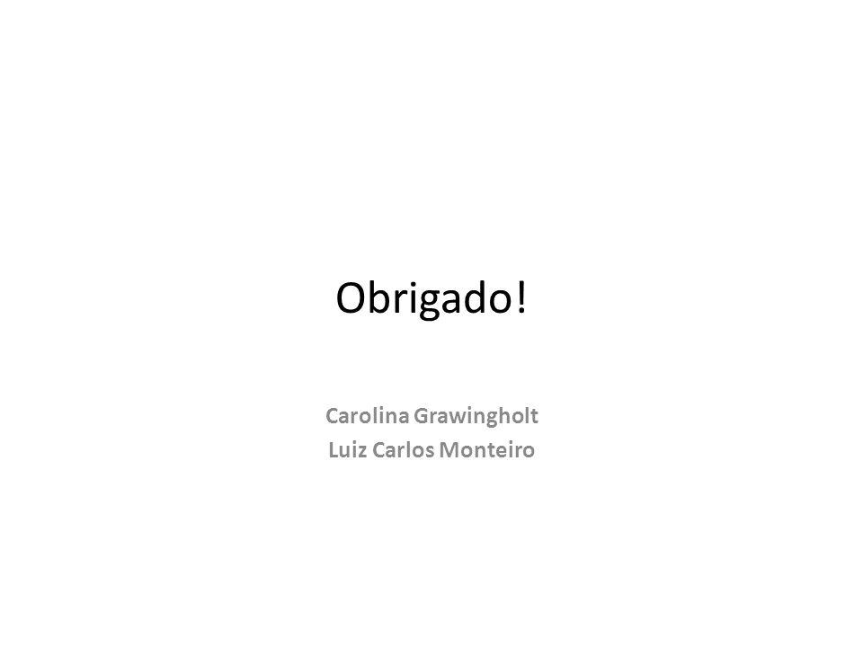 Obrigado! Carolina Grawingholt Luiz Carlos Monteiro