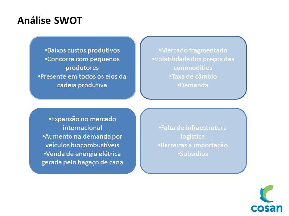 Análise SWOT Baixos custos produtivos Concorre com pequenos produtores