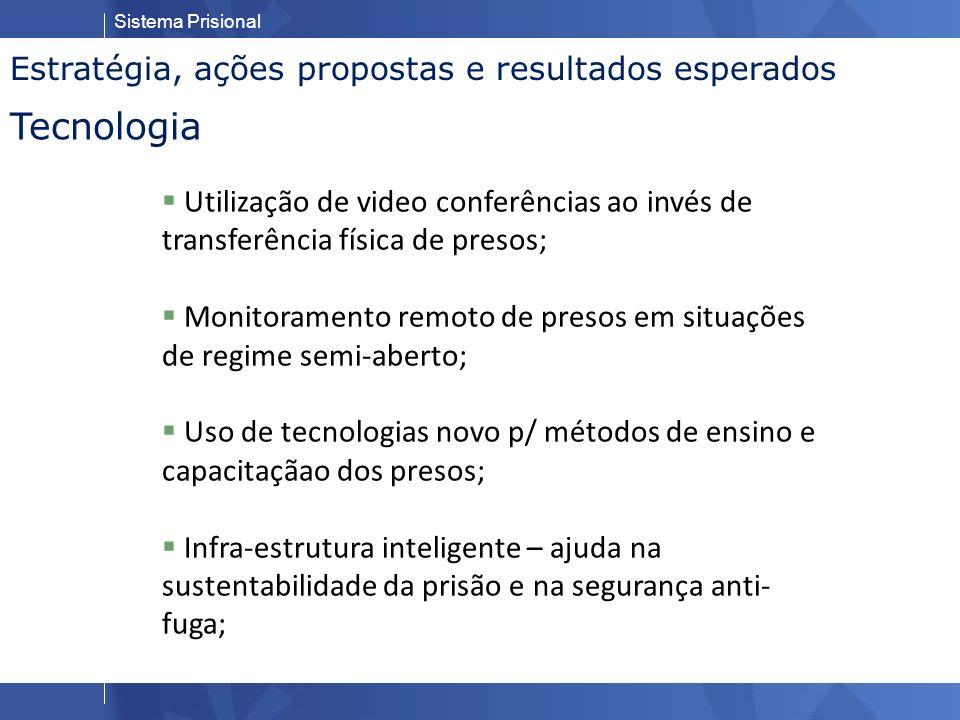Tecnologia Estratégia, ações propostas e resultados esperados