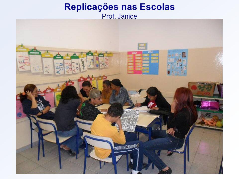 Replicações nas Escolas Prof. Janice