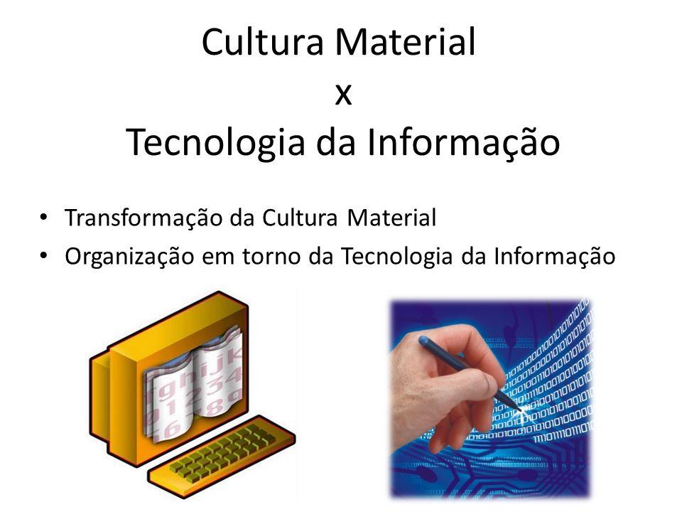 Cultura Material x Tecnologia da Informação