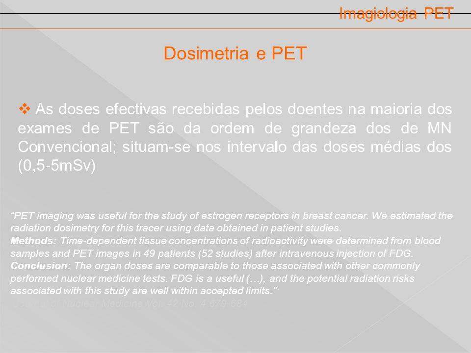 Dosimetria e PET Imagiologia PET