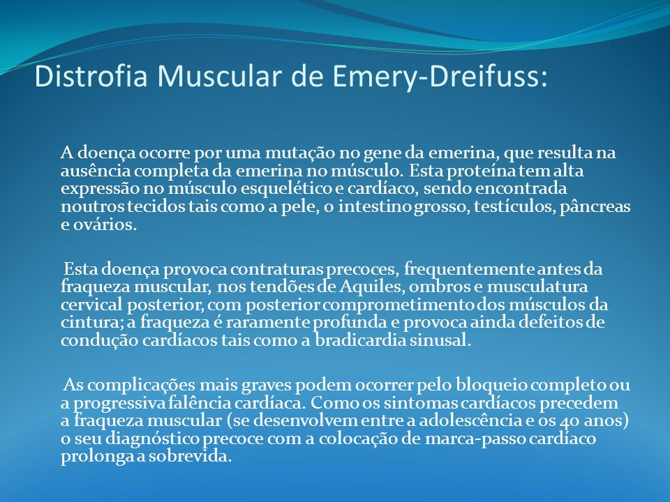 Distrofia Muscular de Emery-Dreifuss: