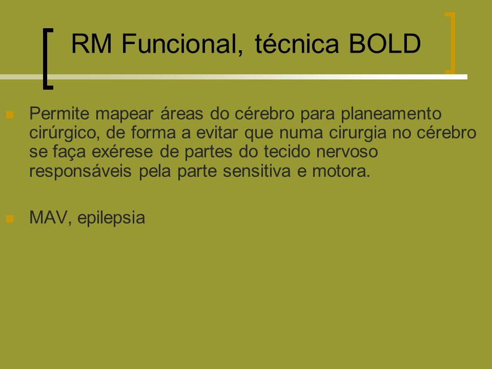 RM Funcional, técnica BOLD