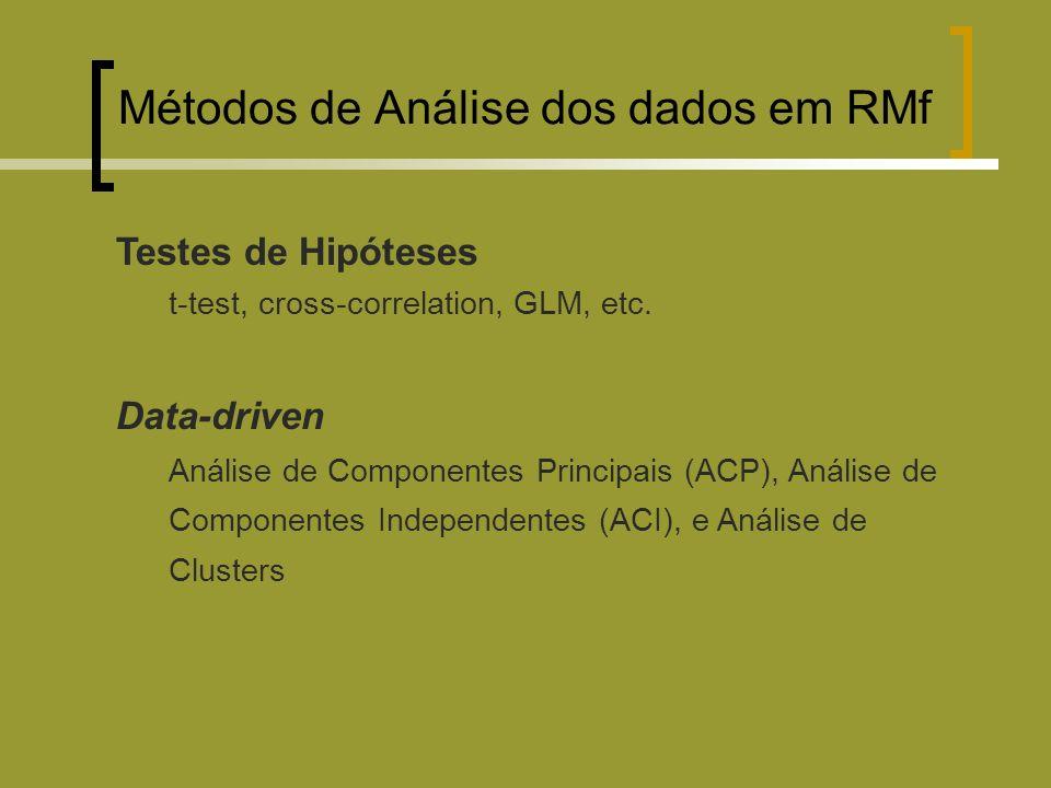 Métodos de Análise dos dados em RMf