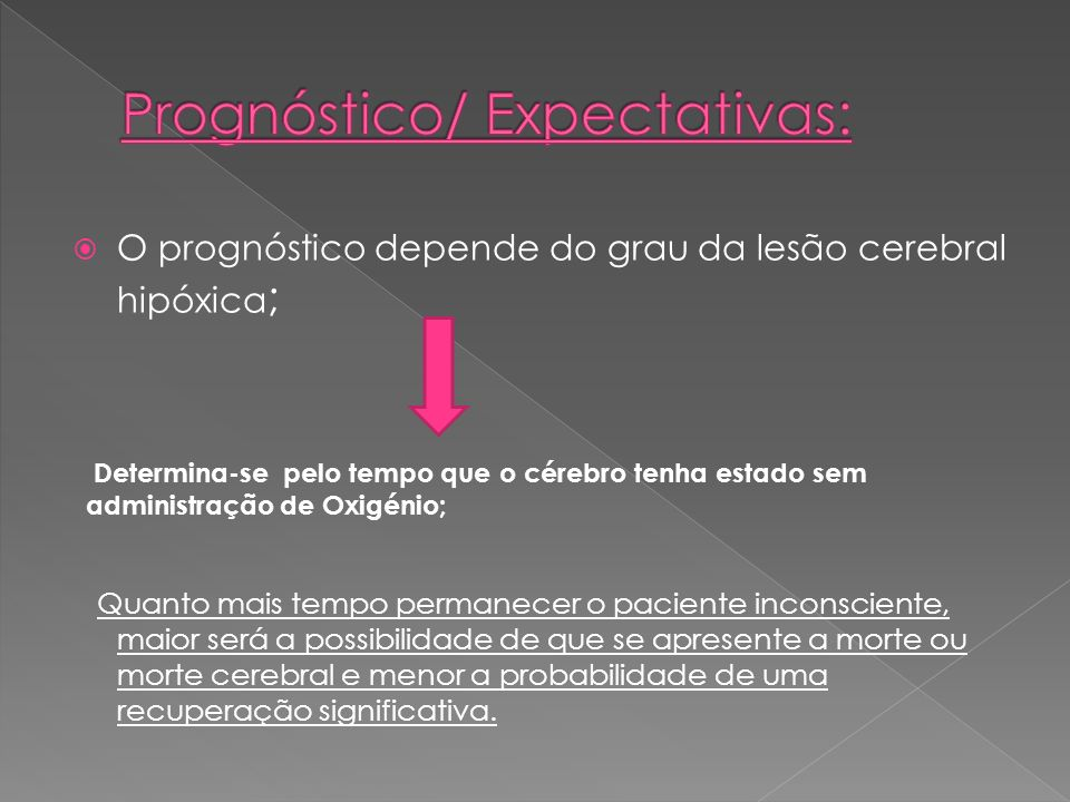 Prognóstico/ Expectativas: