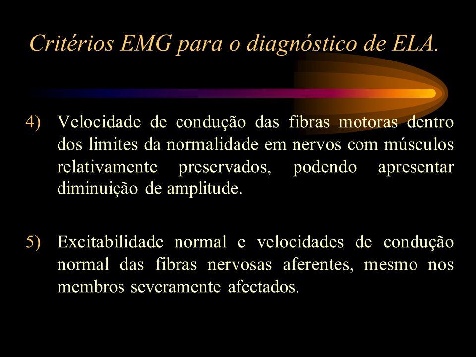 Critérios EMG para o diagnóstico de ELA.