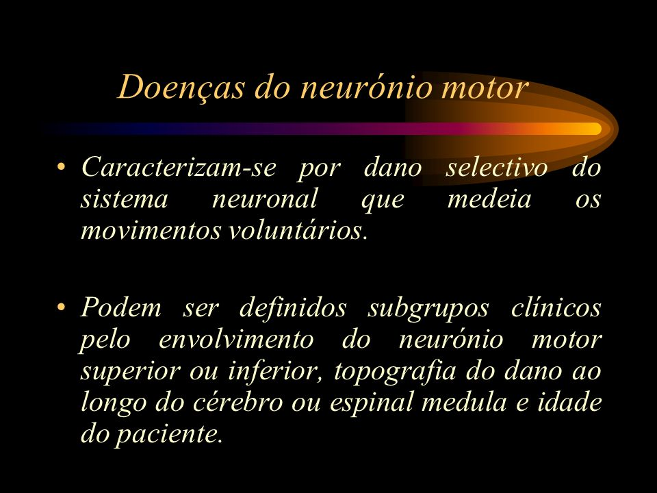 Doenças do neurónio motor