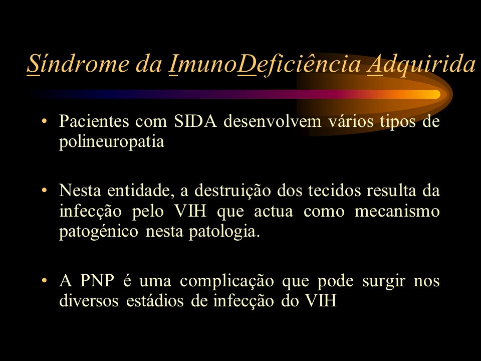 Síndrome da ImunoDeficiência Adquirida
