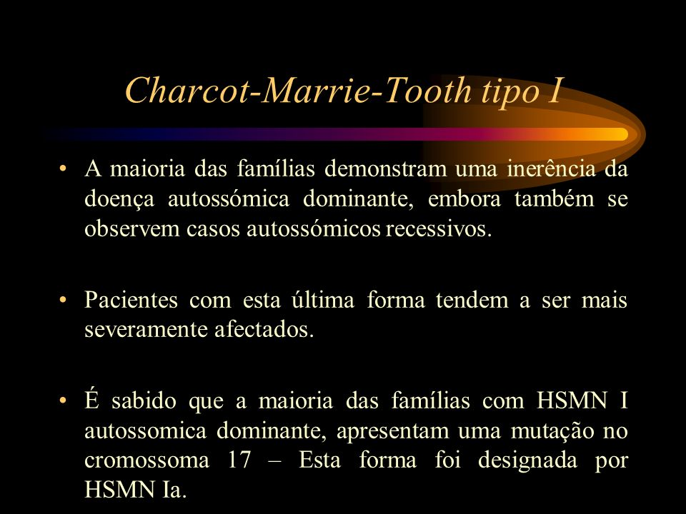 Charcot-Marrie-Tooth tipo I