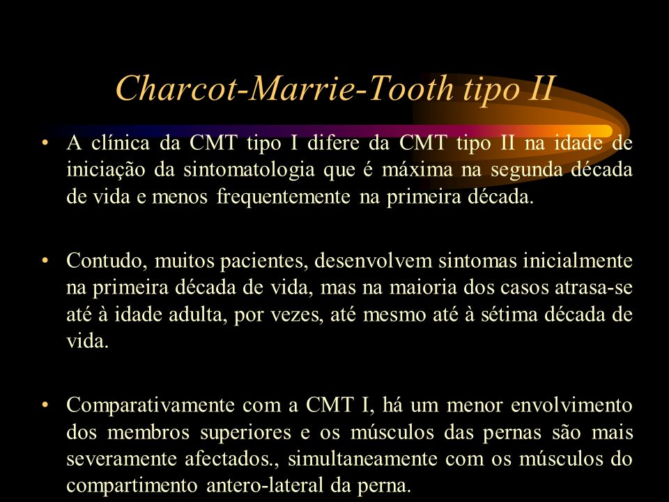 Charcot-Marrie-Tooth tipo II