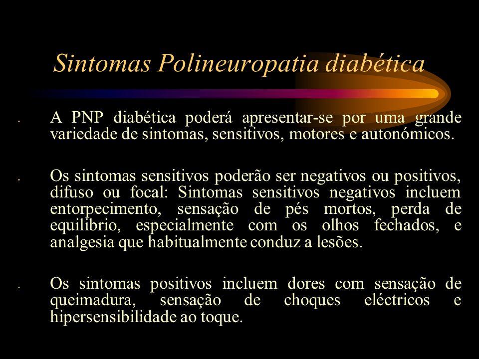 Sintomas Polineuropatia diabética