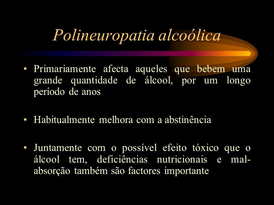 Polineuropatia alcoólica