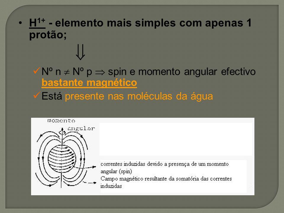  H1+ - elemento mais simples com apenas 1 protão;