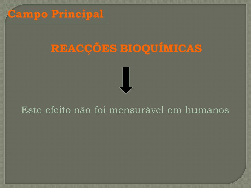 Campo Principal REACÇÕES BIOQUÍMICAS