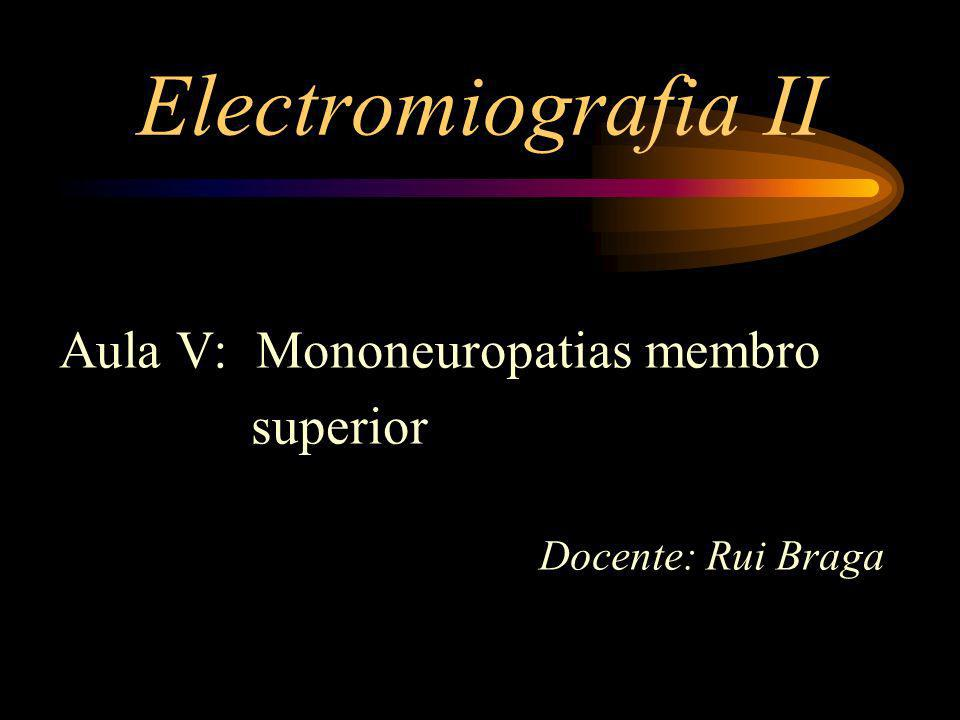 Electromiografia II Aula V: Mononeuropatias membro superior