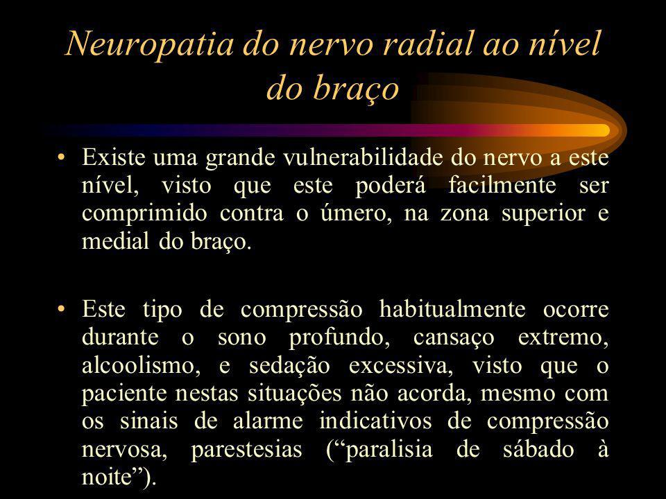 Neuropatia do nervo radial ao nível do braço