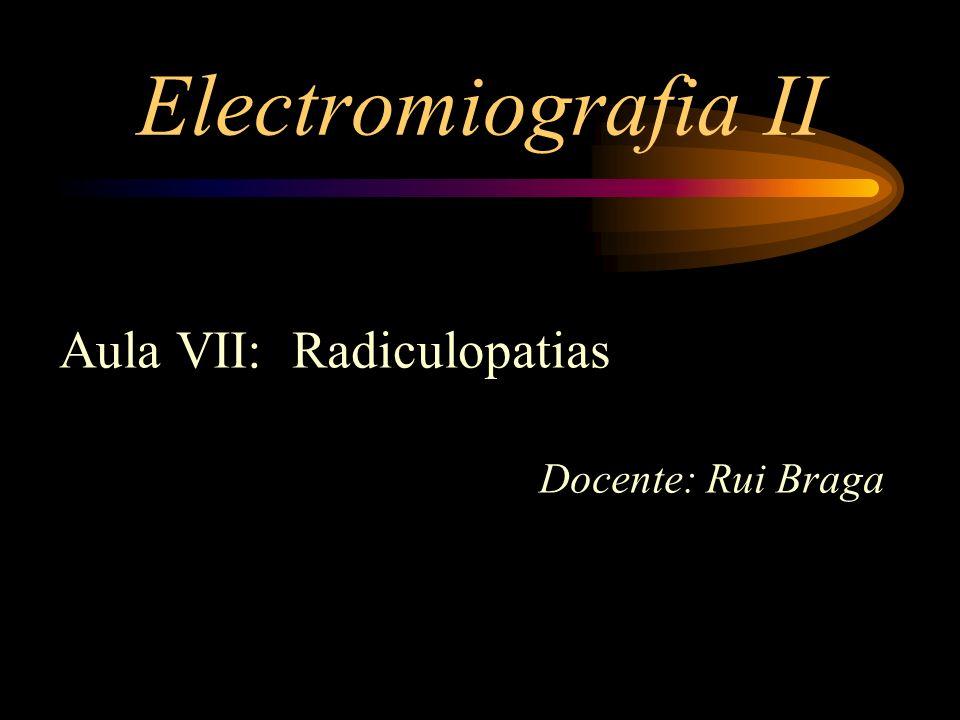 Electromiografia II Aula VII: Radiculopatias Docente: Rui Braga