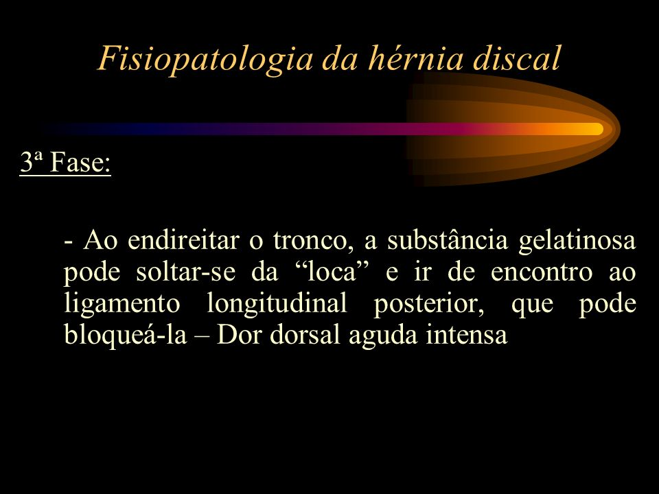 Fisiopatologia da hérnia discal