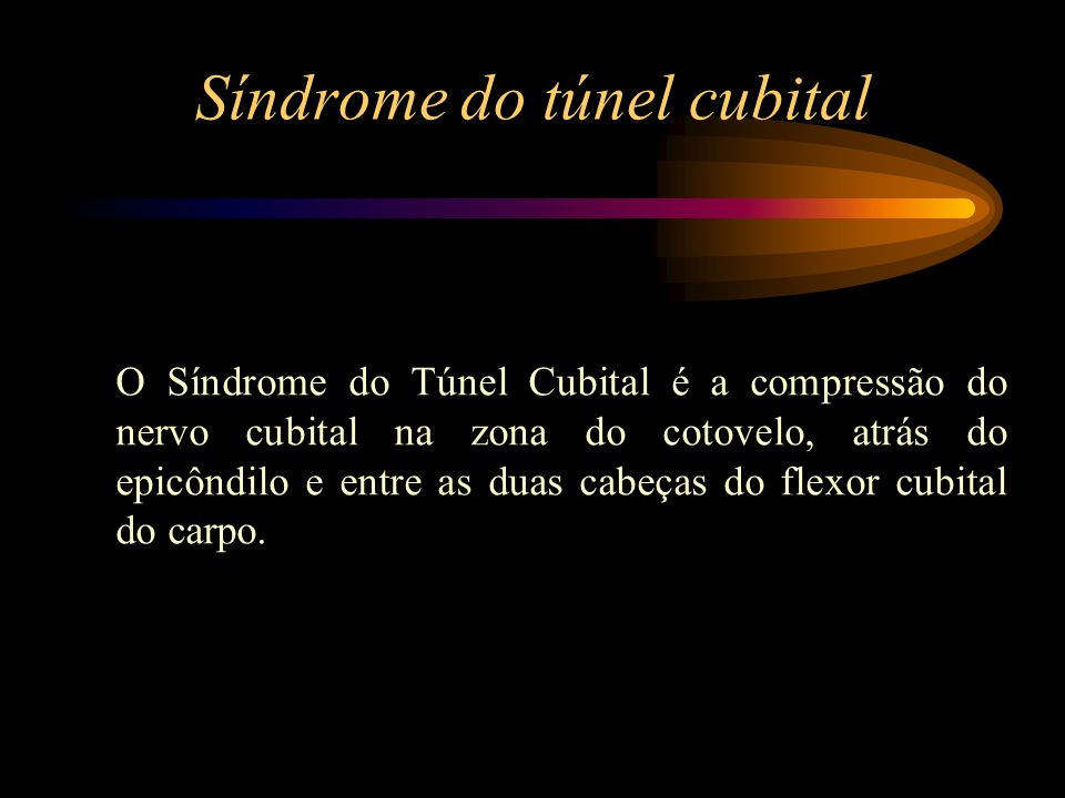 Síndrome do túnel cubital