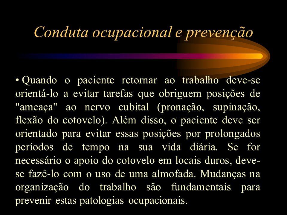 Conduta ocupacional e prevenção