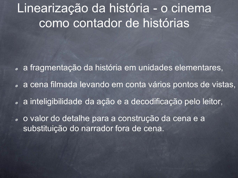 Linearização da história - o cinema como contador de histórias