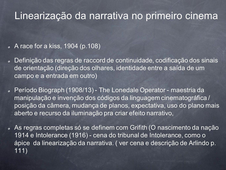 Linearização da narrativa no primeiro cinema