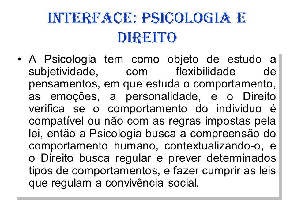 INTERFACE: PSICOLOGIA E DIREITO