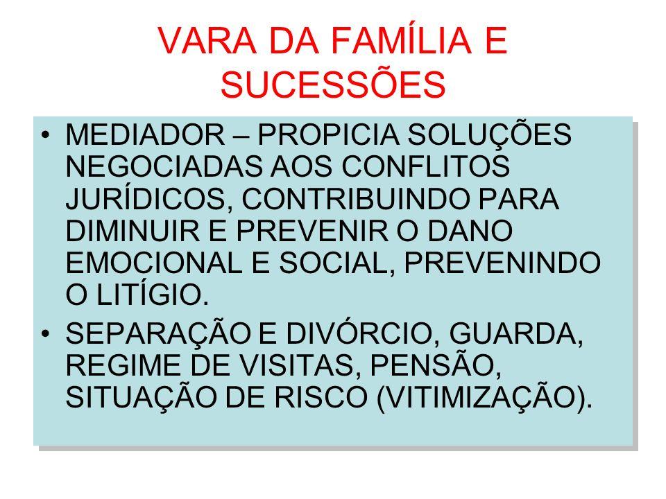 VARA DA FAMÍLIA E SUCESSÕES