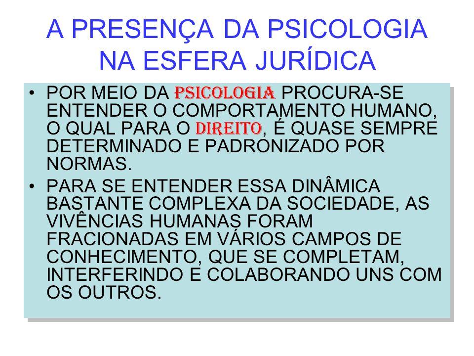 A PRESENÇA DA PSICOLOGIA NA ESFERA JURÍDICA