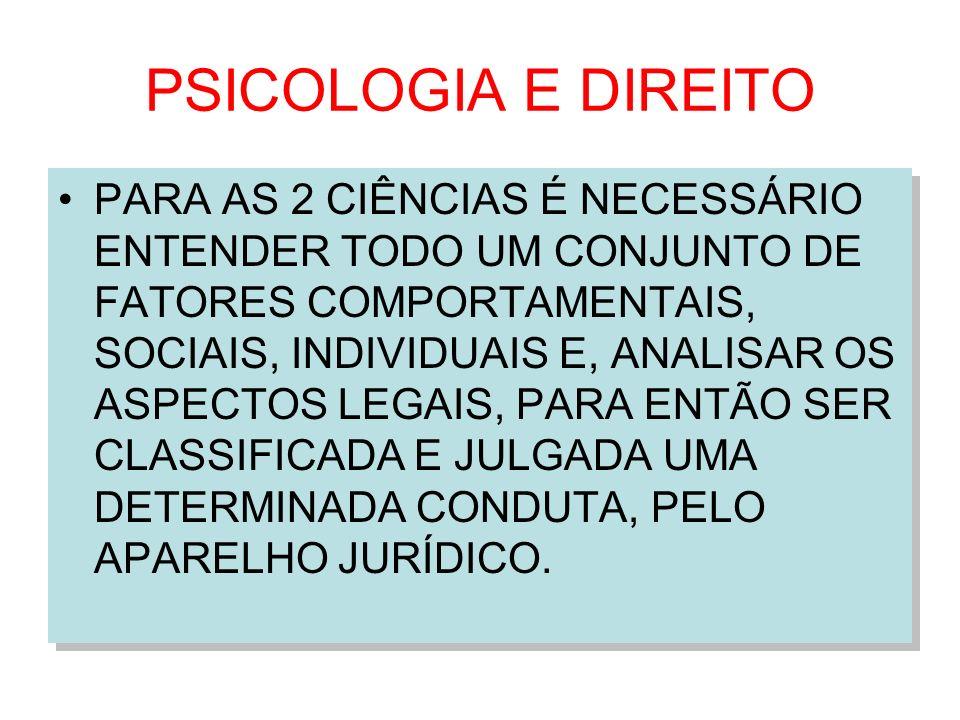 PSICOLOGIA E DIREITO
