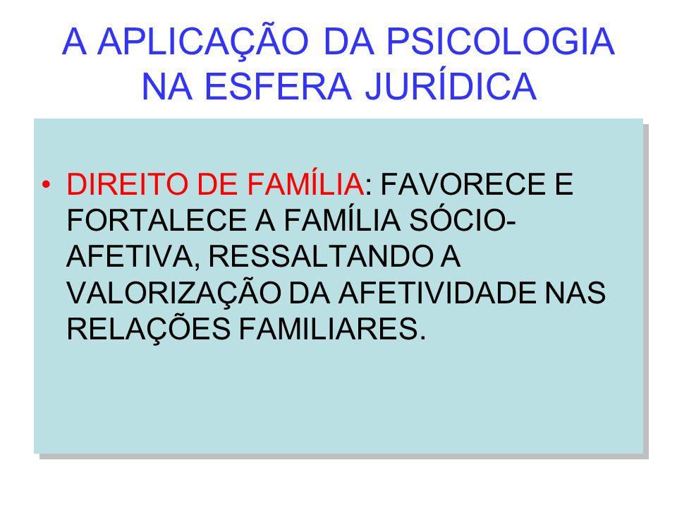 A APLICAÇÃO DA PSICOLOGIA NA ESFERA JURÍDICA