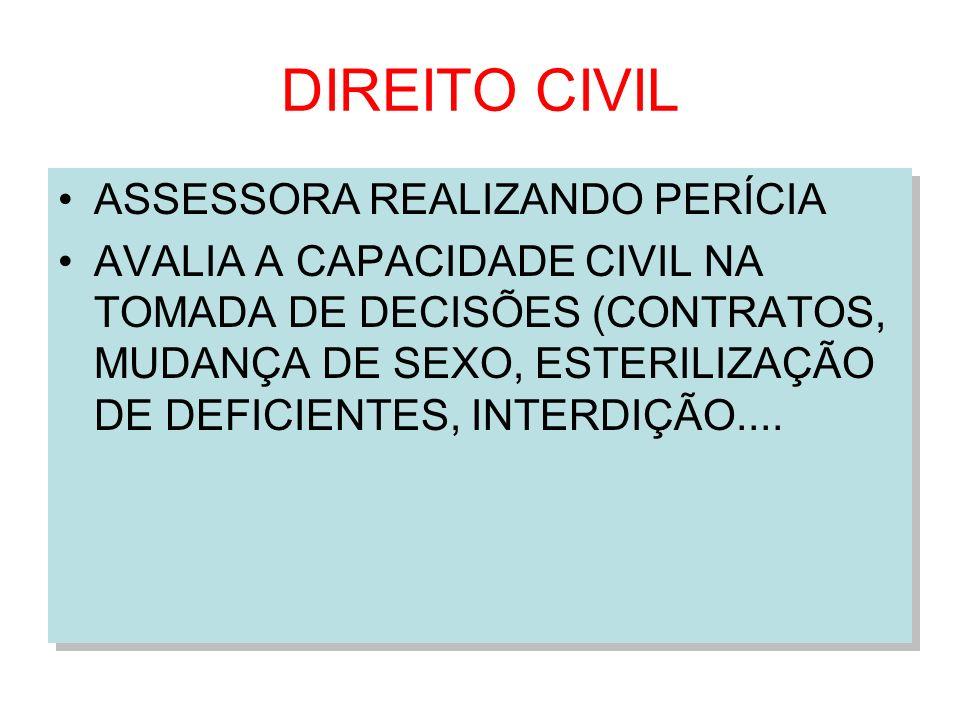 DIREITO CIVIL ASSESSORA REALIZANDO PERÍCIA