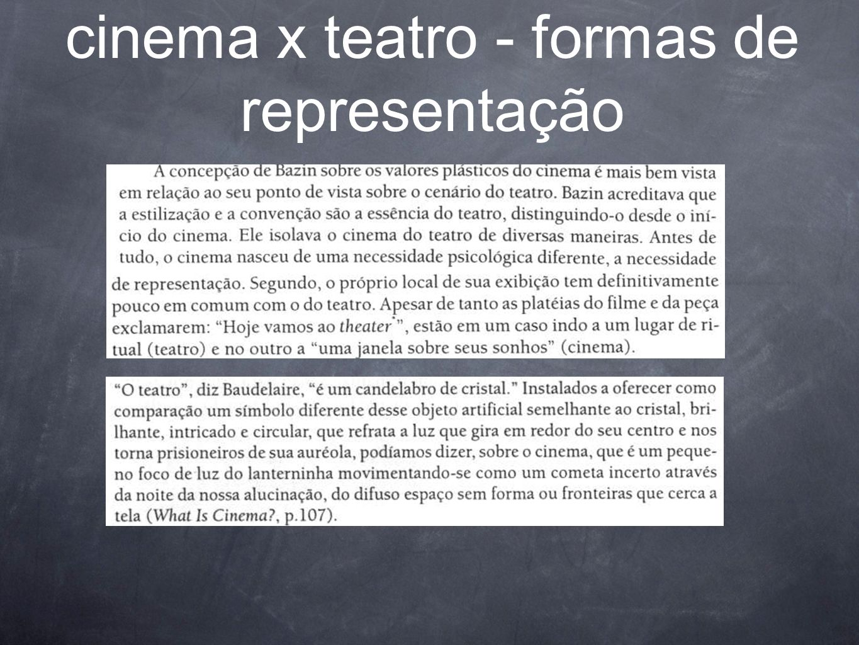 cinema x teatro - formas de representação