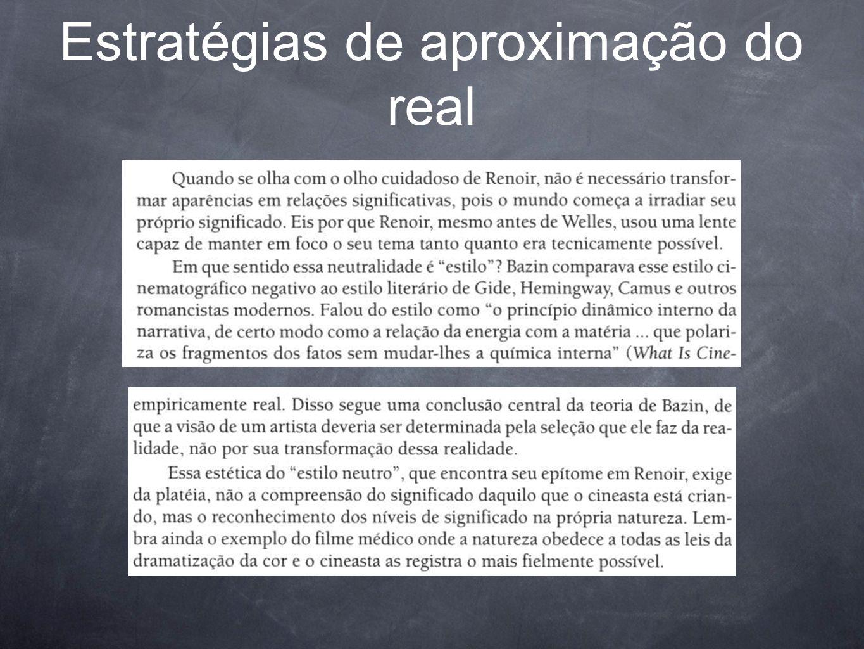 Estratégias de aproximação do real
