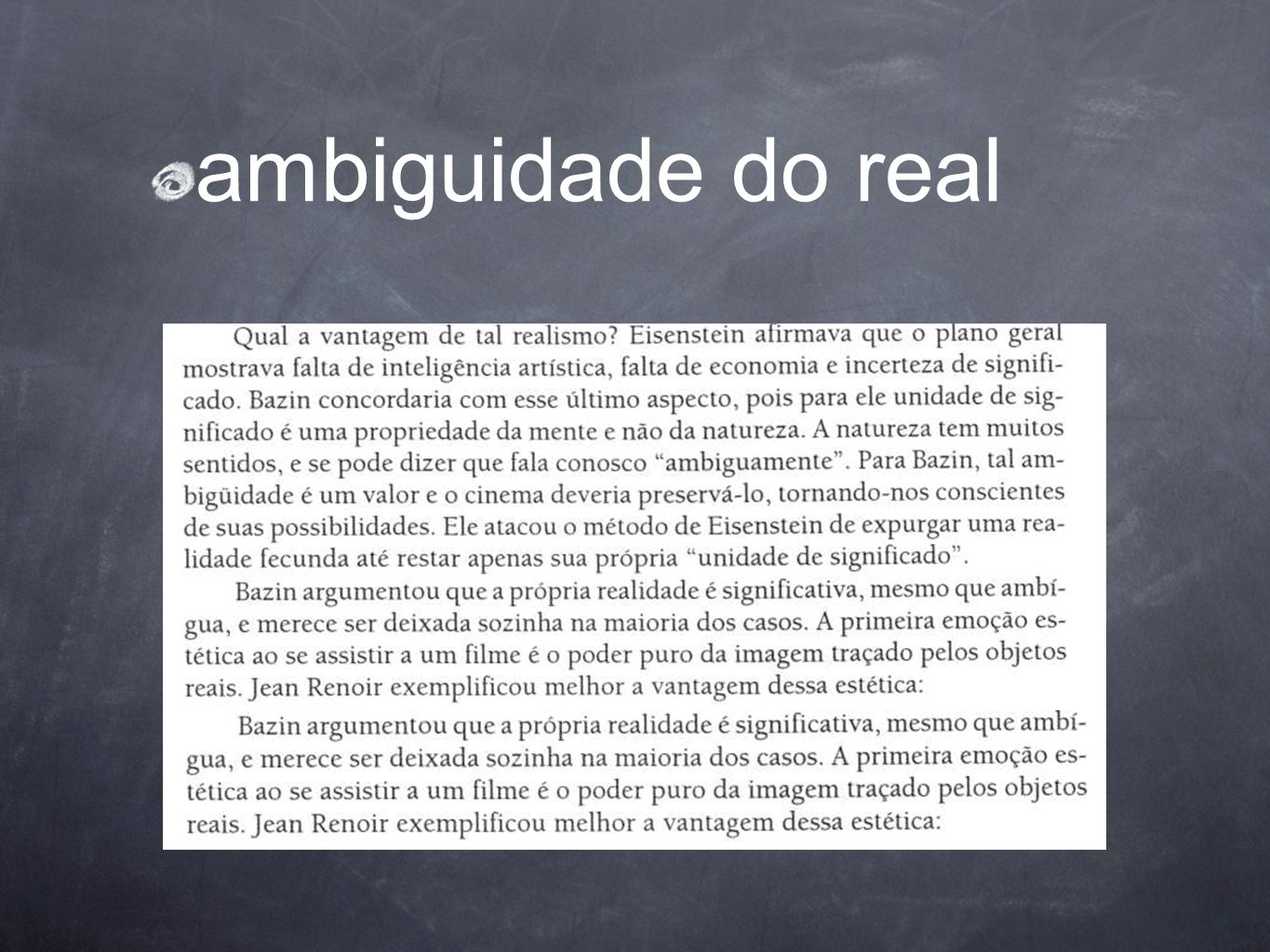 ambiguidade do real