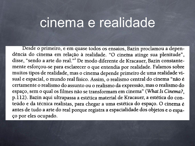 cinema e realidade