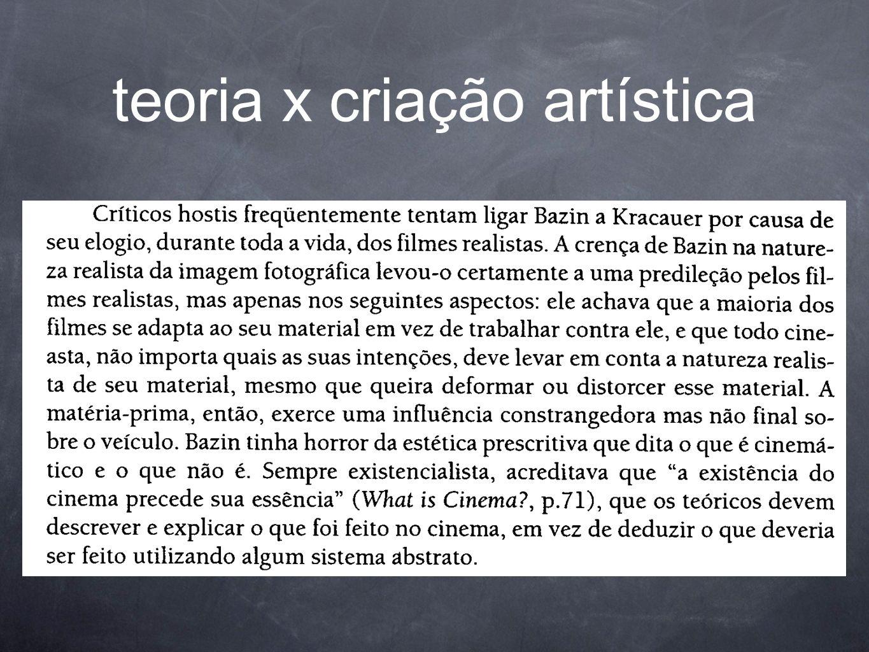 teoria x criação artística