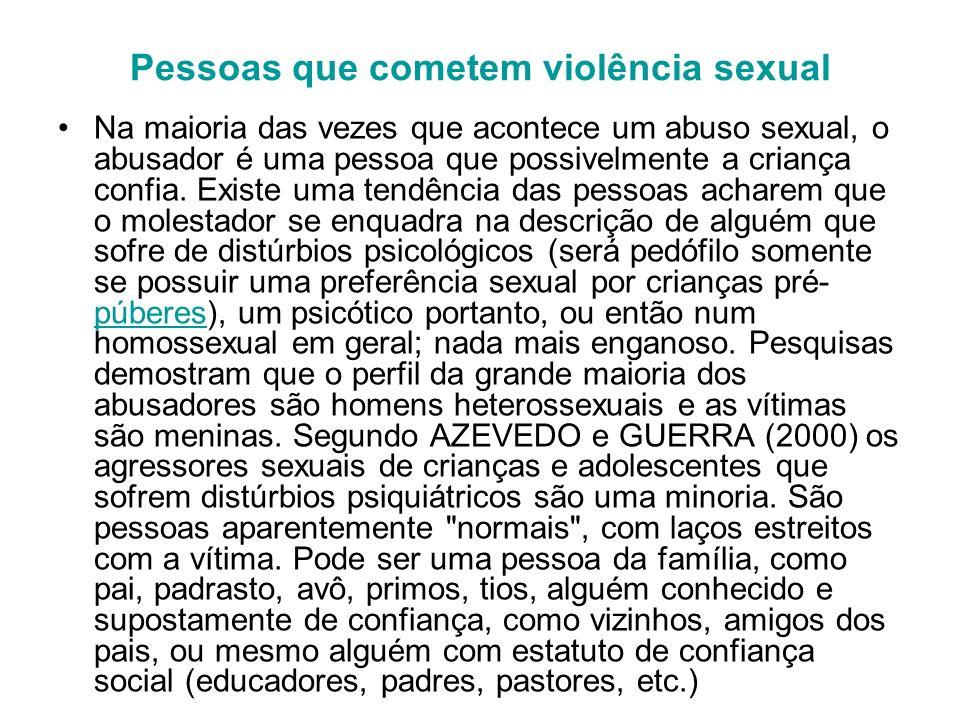 Pessoas que cometem violência sexual