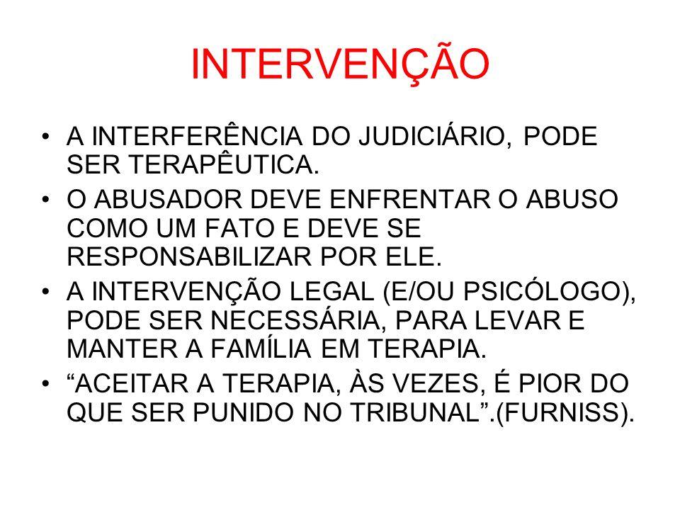 INTERVENÇÃO A INTERFERÊNCIA DO JUDICIÁRIO, PODE SER TERAPÊUTICA.