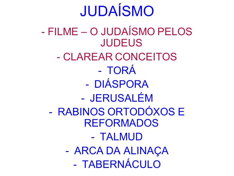 JUDAÍSMO - FILME – O JUDAÍSMO PELOS JUDEUS - CLAREAR CONCEITOS TORÁ